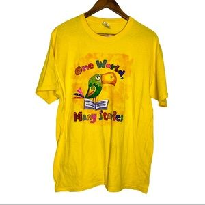Vintage One World Many Stories Parrot T-Shirt